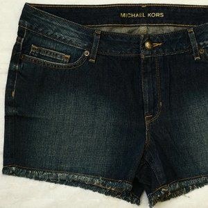 Michael Kors Denim Blue Boyfriend Fit Shorts Jeans